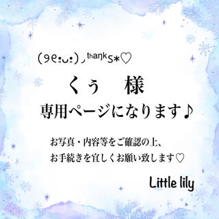 くぅ様【36】イヤリング(ピアス)