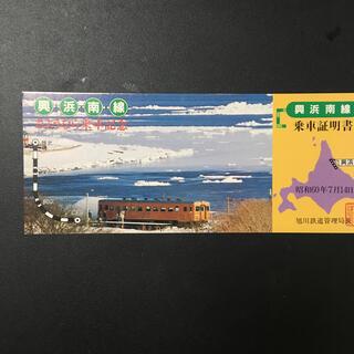 興浜北線さようなら乗車記念 乗車証明書(鉄道)