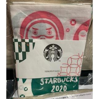 スターバックスコーヒー(Starbucks Coffee)の未使用 スタバ福袋2021年 だるま手拭い(テーブル用品)