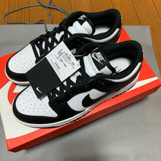 ナイキ(NIKE)のNIKE DUNK LOW BLACK WHITE(スニーカー)