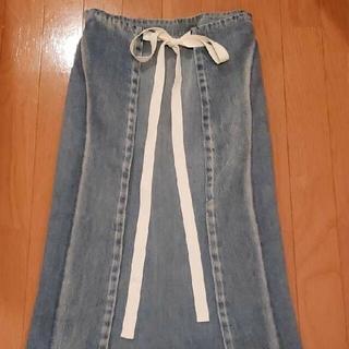 エムエムシックス(MM6)の新品 MM6メゾンマルジェラ デニムスカート(ロングスカート)