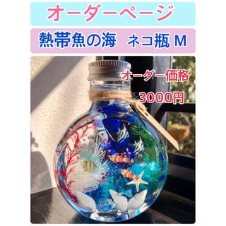 【オーダーページ】ハーバリウム 《海》ねこ瓶 Mサイズ(その他)