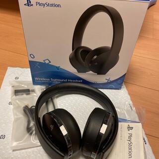 プレイステーション(PlayStation)のPS4 純正 ワイヤレスサラウンドヘッドホン(ヘッドフォン/イヤフォン)