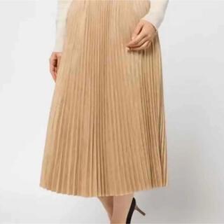 エルフォーブル(ELFORBR)のエルフォーブル スエードプリーツスカート 最終お値下げ❗️(ひざ丈スカート)