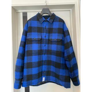 W)taps - DESCENDANT ネルシャツジャケット/BLUE(3)Ron Herman