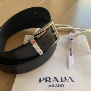 プラダ(PRADA)の【新品未使用】 メンズPRADA リバーシブル ダブルラップ レザーベルト(ベルト)