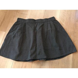 オールドネイビー(Old Navy)のOLD NAVY 水玉ミニスカート 新品 黒系 S(ミニスカート)