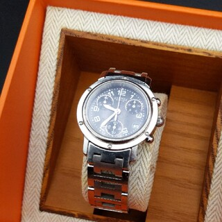 Hermes - エルメス HERMES クリッパー 腕時計 時計 電池新品 CL1-310