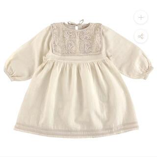 ボンポワン(Bonpoint)の新品 liilu リール キッズ ドレス ワンピース ナチュラル 4y(ワンピース)