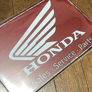 ホンダ(ホンダ)のHONDA WING PARTS SERVISE ブリキ看板(その他)