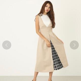rienda - 美品✧︎ rienda スリットプリーツハイウエストサスペンダースカート