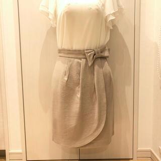 ストロベリーフィールズ(STRAWBERRY-FIELDS)の厚手 膝丈スカート(ひざ丈スカート)