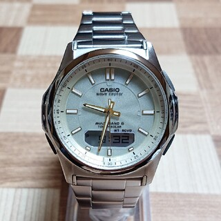 カシオ(CASIO)の超美品【CASIO/WAVE CEPTOR】電波ソーラー メンズ腕時計(腕時計(デジタル))