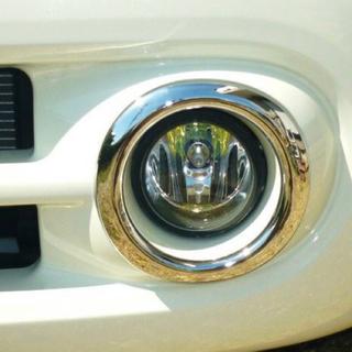 日産 -  新品未使用 キューブ Z12 NZ12 メッキ フォグ ライト リング