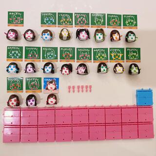 エーケービーフォーティーエイト(AKB48)のAKBとぷっちょのコラボキャラクター 第7弾 6月コンプリート+7月(アイドルグッズ)