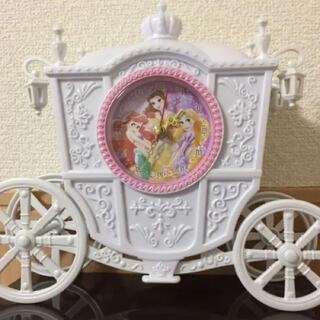 ディズニー(Disney)のディズニープリンセス プレミアムパールホワイト 馬車型クロック(置時計)