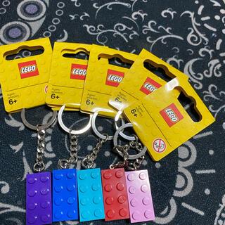 レゴ(Lego)のレゴ キーチェーン キーリング 5色(キーホルダー)