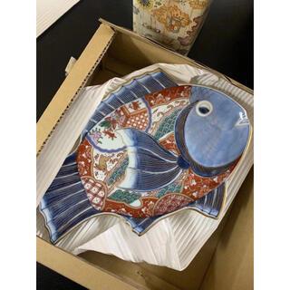 ハサミ(HASAMI)の新品 林九郎 窯 波佐見焼 古伊万里様式 手作り 皿 魚 陶芸(食器)
