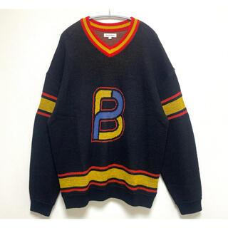 Supreme - black eye patch BEP emblem knit