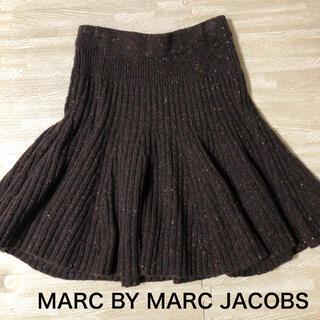 マークバイマークジェイコブス(MARC BY MARC JACOBS)のMARC JACOBS ミックスニットフレアスカート(ひざ丈スカート)