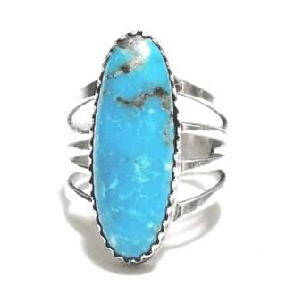 インディアンジュエリー ターコイズ シルバー925 シルバーリング ナバホ(リング(指輪))