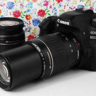 キヤノン(Canon)の★Wi-Fi搭載★ Canon EOS 80D ダブルレンズセット★(デジタル一眼)