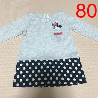 ディズニー(Disney)のNO.180 ミニーちゃん 長袖 ワンピース 女の子 80(ワンピース)