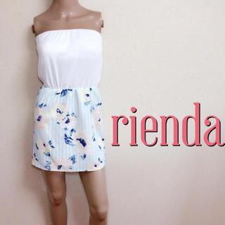 rienda - もて服♪リエンダ 切り替え 美くびれベアワンピース♡リゼクシー ダチュラ