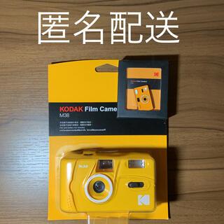 フジフイルム(富士フイルム)のコダック Kodak M38 フィルムカメラ イエロー ピンバッジ付(フィルムカメラ)