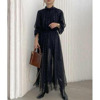 アメリヴィンテージ(Ameri VINTAGE)の新品 Ameri Vintage MANY WAY MIX DOT DRESS(ロングワンピース/マキシワンピース)