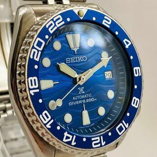 セイコー(SEIKO)のSEIKO 7002-7000 腕時計 メンズ 自動巻 アンティーク ブルー 青(腕時計(アナログ))