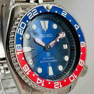 セイコー(SEIKO)のSEIKO 7002-700A 腕時計 メンズ 自動巻き アンティーク ブルー(腕時計(アナログ))