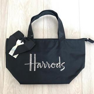 ハロッズ(Harrods)のハロッズ スワロスフキー ブラック 舟型 ハンドバッグ(ハンドバッグ)