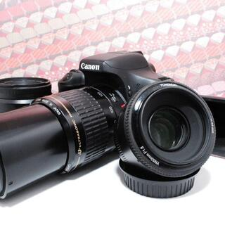 キヤノン(Canon)の☆美品☆ Canon EOS Kiss X8i 単焦点、標準、望遠セット(デジタル一眼)