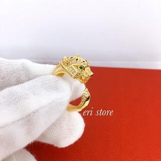 ドゥロワー(Drawer)の最高級SONAダイヤモンド✨豹柄(パンテール)リング(リング(指輪))