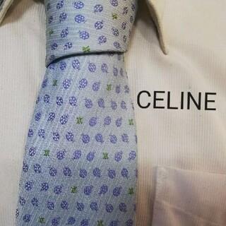 セリーヌ(celine)の大人気★セリーヌCELINE★美しいてんとう虫&ロゴ柄高級ネクタイ★(ネクタイ)