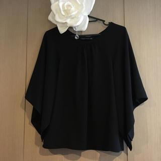 ザラ(ZARA)のザラ 未使用 ブラック トップス (カットソー(半袖/袖なし))
