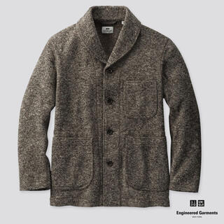 エンジニアードガーメンツ(Engineered Garments)のユニクロ エンジニアードガーメンツ フリースショールカラージャケット L グレー(ブルゾン)