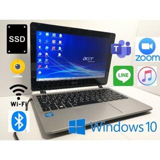 エイサー(Acer)の①すぐ使える 高速SSD搭載【Win10】高性能PC 11.6型 WEBカメラ(ノートPC)