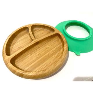 Avanchy 竹のプレート&スプーンセット(プレート/茶碗)