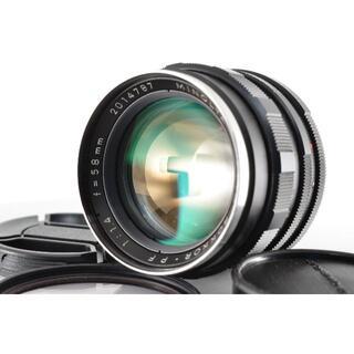 コニカミノルタ(KONICA MINOLTA)のミノルタ Minolta Rokkor PF 58mm f1.4 #1390 【(レンズ(単焦点))