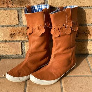 アディダス(adidas)の新品本革 adidas アディダスオリジナルス スタンブーツ カワイイ ブラウン(ブーツ)