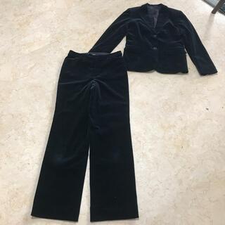 アナイ(ANAYI)の美品アナイコードュロイブラックセットアップパンツスーツ、サイズM。ANAY(セット/コーデ)