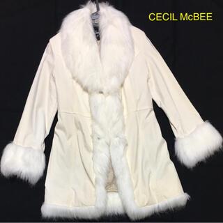セシルマクビー(CECIL McBEE)のCECIL Mc BEE ファーコート 難あり(毛皮/ファーコート)