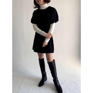 ロキエ(Lochie)のpapermoon black cotton op(ミニワンピース)