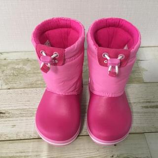 クロックス(crocs)のクロックス スノーブーツ 長靴 14センチ 女の子 ピンク(長靴/レインシューズ)