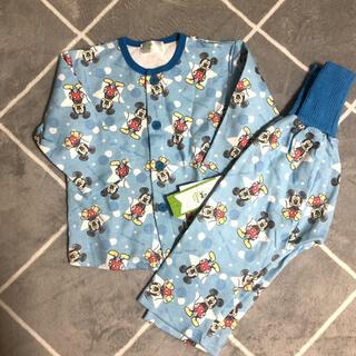 ディズニー(Disney)のディズニー パジャマ ミッキー   長袖 90 綿100% 腹巻付 男の子 (パジャマ)