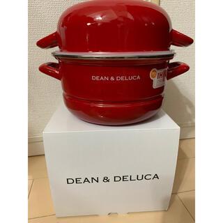 ディーンアンドデルーカ(DEAN & DELUCA)のDEAN & DELUCA キャセロールL レッド(18cm)(鍋/フライパン)