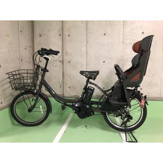 ブリヂストン(BRIDGESTONE)のbikke mob ブリヂストン ビッケ 電動自転車 子乗せ自転車 グレー 中古(自転車本体)