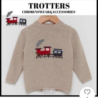 プチバトー(PETIT BATEAU)の新品 TROTTERS セーター☆蒸気機関車デザイン(ニット/セーター)
